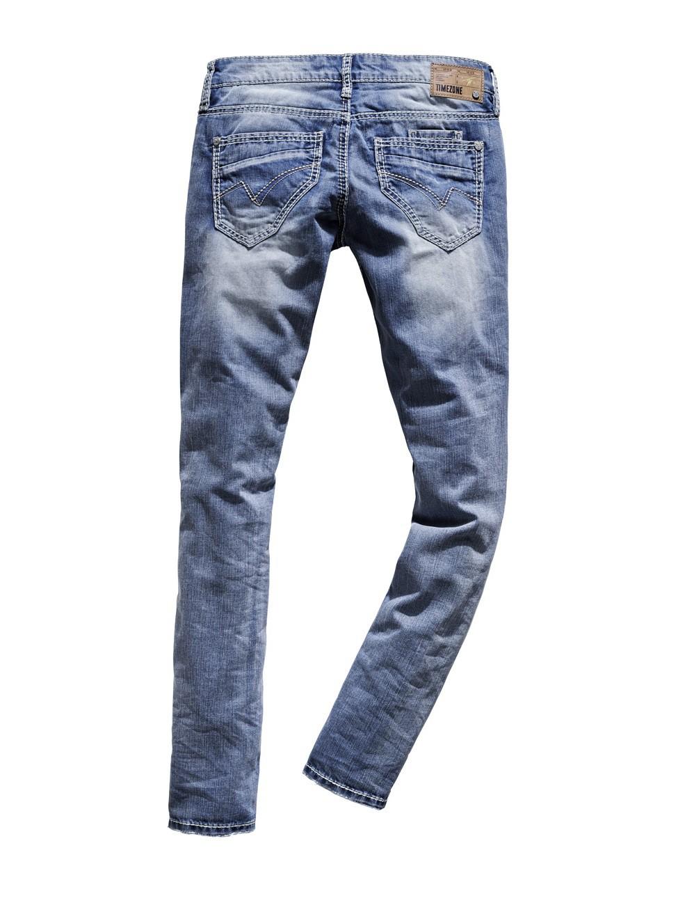 timezone damen jeans ninitz 16 5488 slim fit cool bleach wash. Black Bedroom Furniture Sets. Home Design Ideas