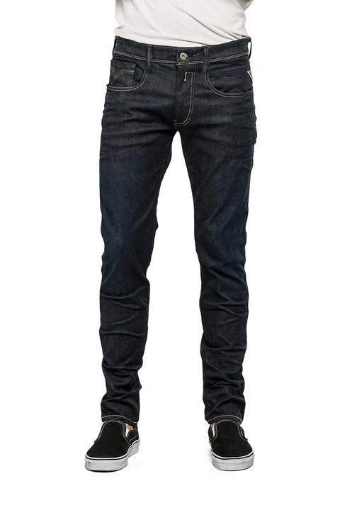 replay hyperflex herren jeans anbass m914 661 519 slim fit dark blue. Black Bedroom Furniture Sets. Home Design Ideas