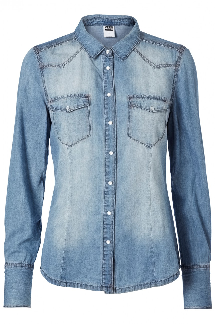 vero moda damen jeanshemd vera vintage b kaufen jeans direct de. Black Bedroom Furniture Sets. Home Design Ideas
