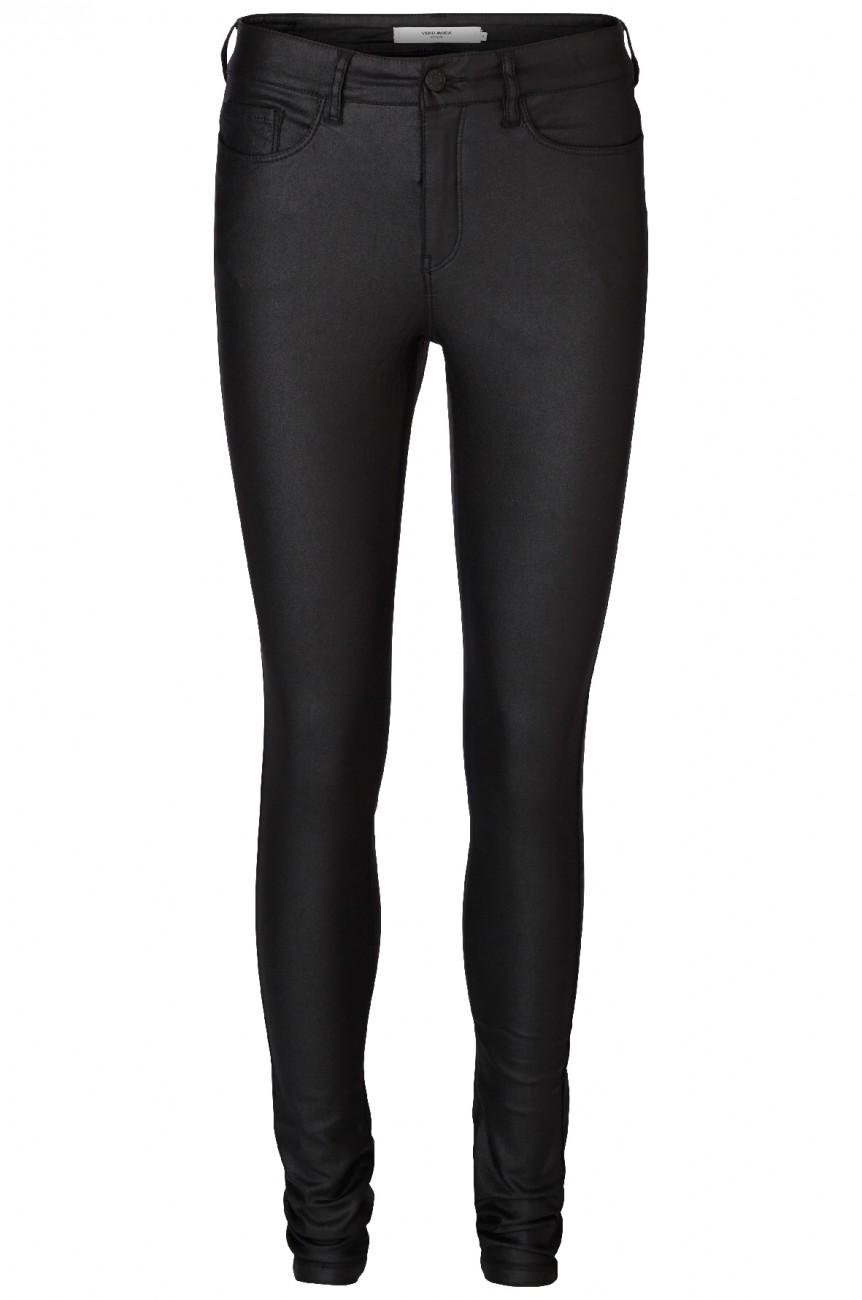 vero moda damen hose 10138972 vmseven nw s slim smooth coated pants online kaufen jeans direct de. Black Bedroom Furniture Sets. Home Design Ideas