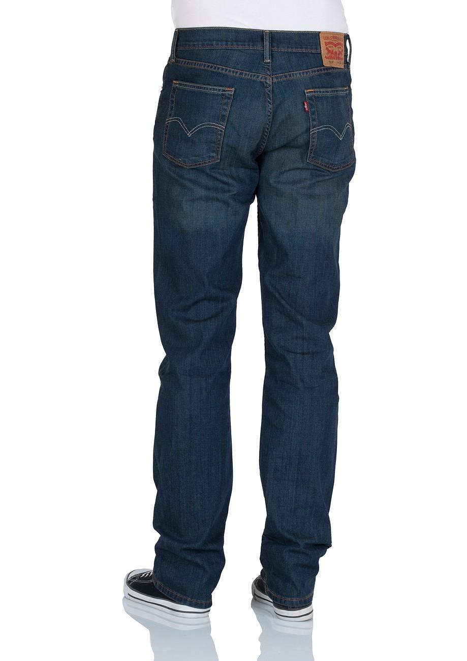 schmal geschnittene levis jeans mit geradem beinverlauf mittlerer. Black Bedroom Furniture Sets. Home Design Ideas