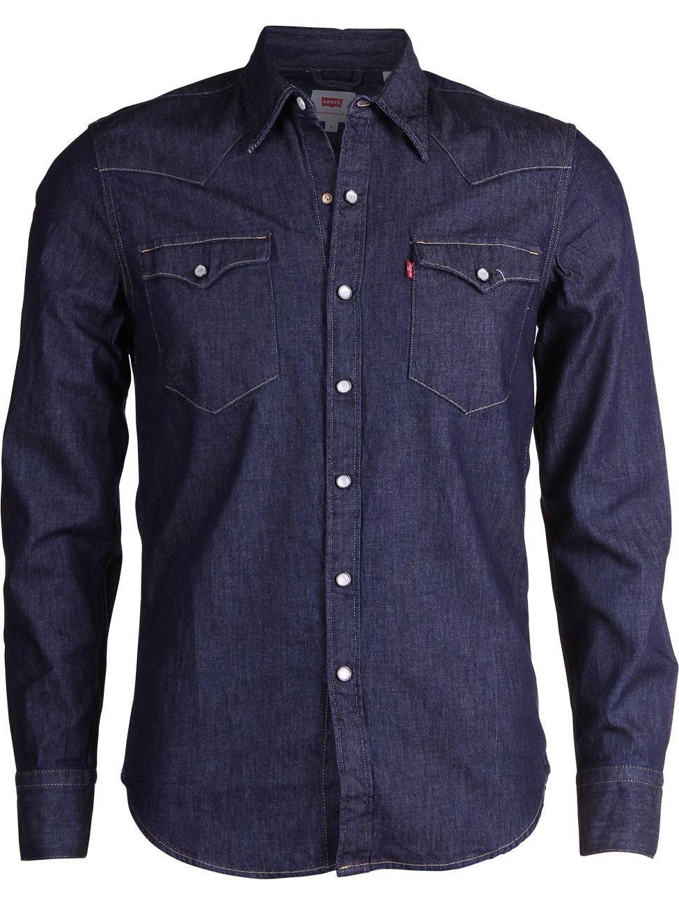 levi 39 s herren jeanshemd 65816 barstow western shirt