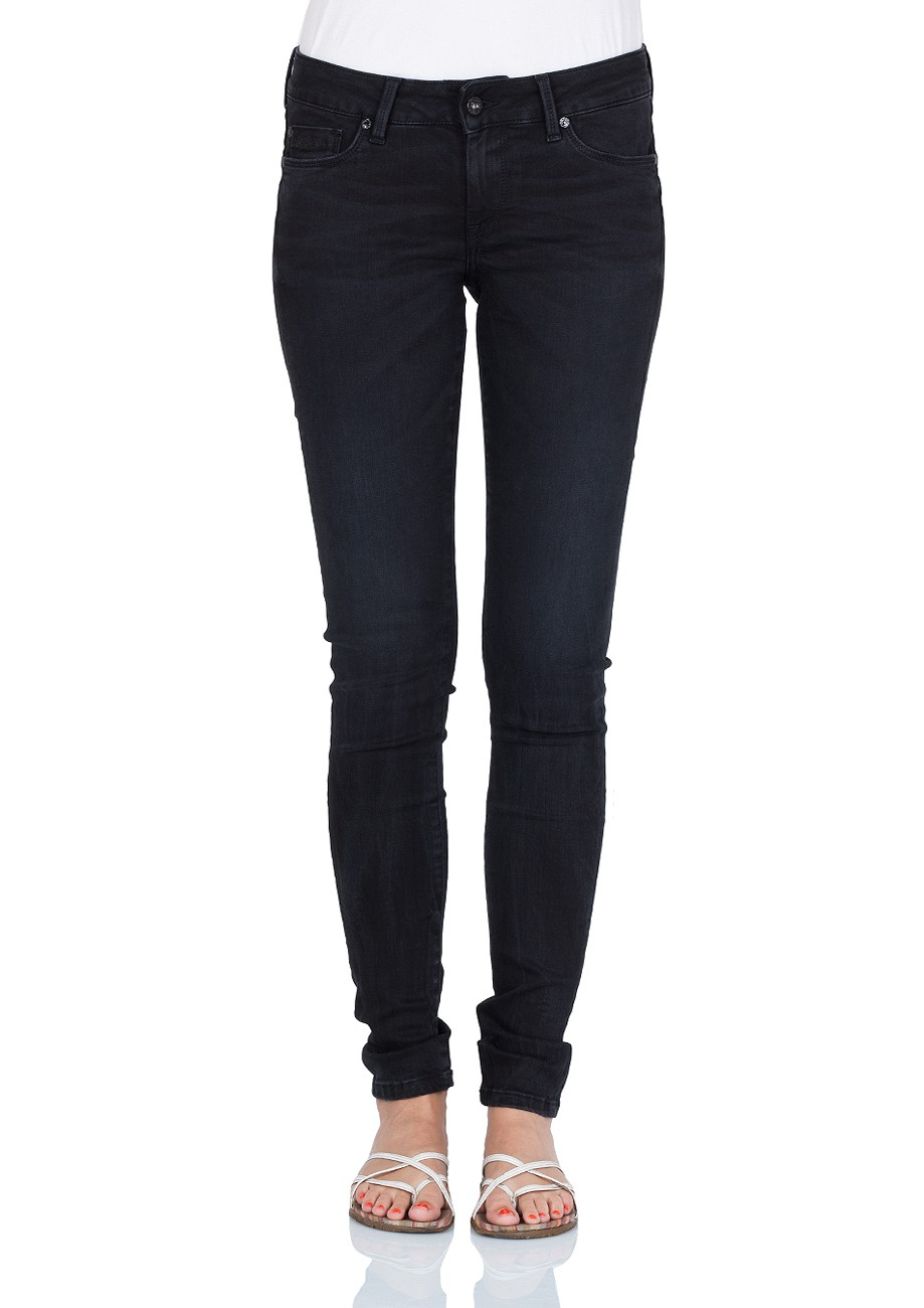 pepe jeans damen jeans soho regular fit washed black kaufen jeans direct de. Black Bedroom Furniture Sets. Home Design Ideas