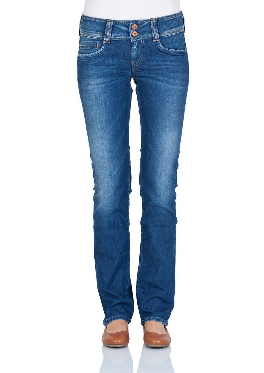 pepe jeans damen jeans gen regular fit royal blue kaufen jeans direct de. Black Bedroom Furniture Sets. Home Design Ideas