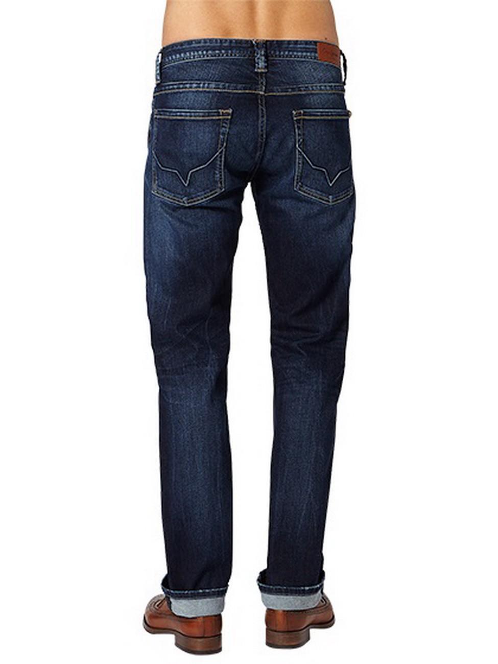 pepe jeans herren jeans pm200143z45 kingston zip regular fit dark blue ebay. Black Bedroom Furniture Sets. Home Design Ideas