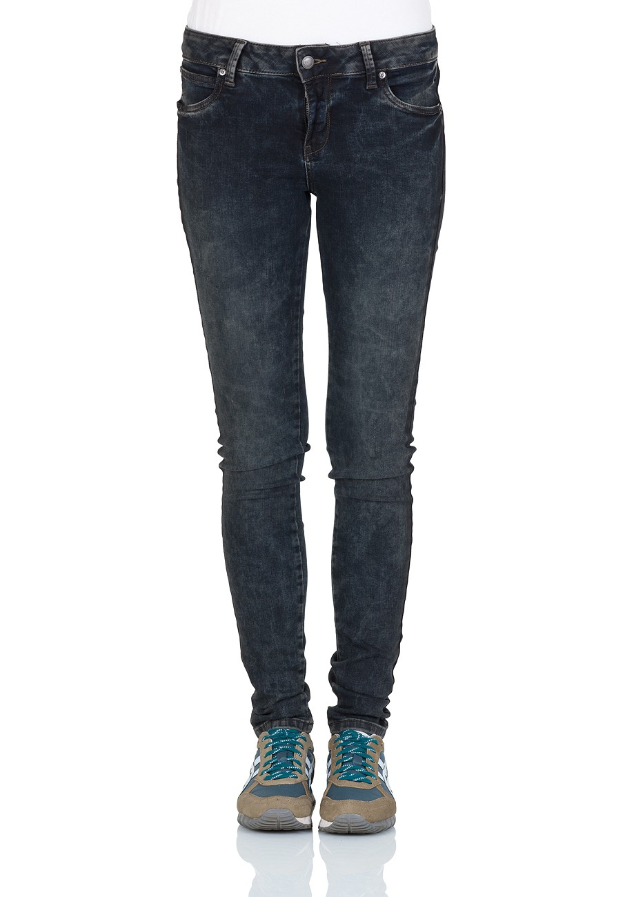 ltb damen jeans dora skinny fit blau dirty rebel undestroyed ebay. Black Bedroom Furniture Sets. Home Design Ideas