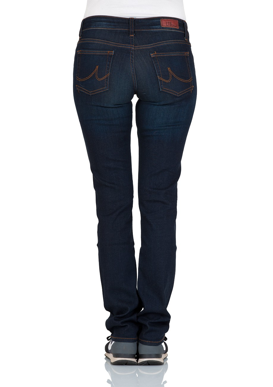 ltb damen jeans aspen regular slim straight blau neola wash ebay. Black Bedroom Furniture Sets. Home Design Ideas