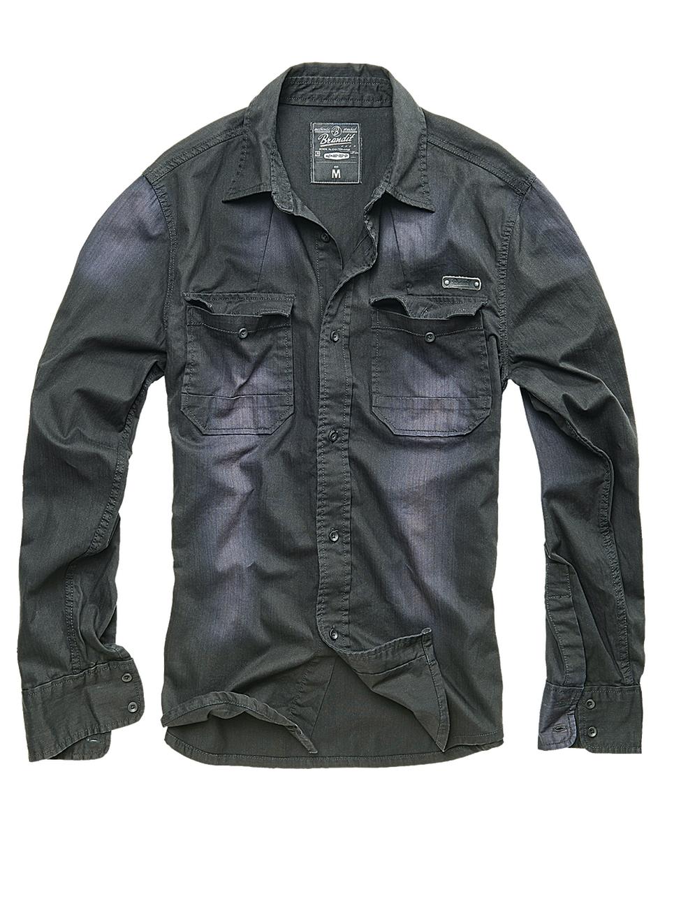 brandit herren jeanshemd hardee denim kaufen jeans direct de. Black Bedroom Furniture Sets. Home Design Ideas