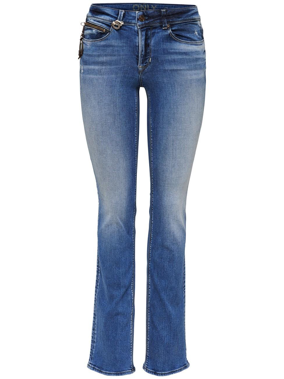 only damen jeans onlella blau medium blue denim kaufen. Black Bedroom Furniture Sets. Home Design Ideas