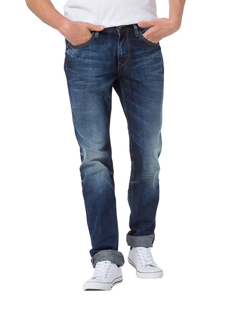 cross herren jeans antonio relax fit blau extreme crincle blue used ebay. Black Bedroom Furniture Sets. Home Design Ideas