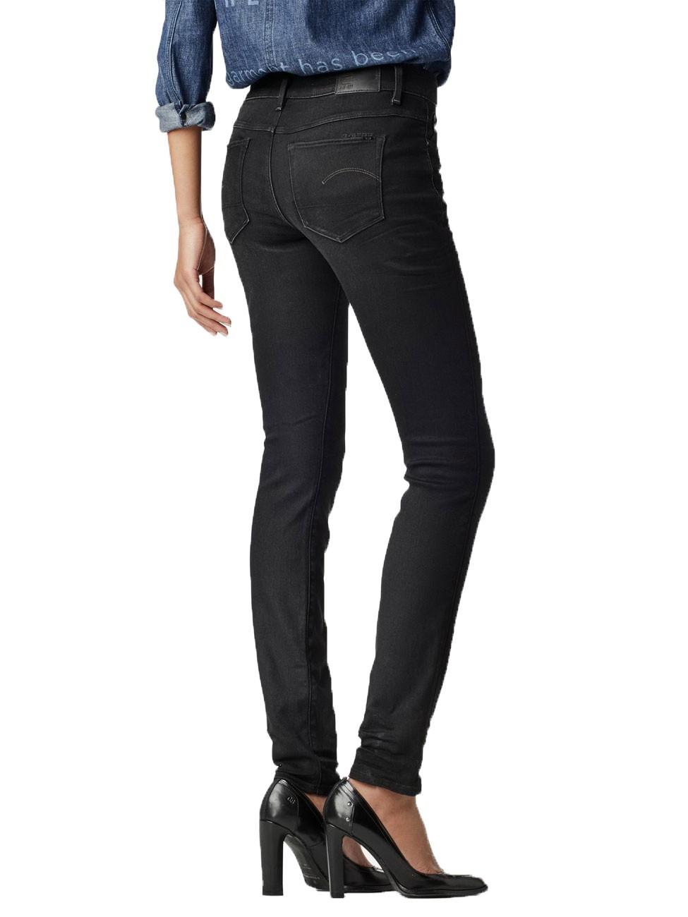 g star damen jeans 3301 contour damen high waist skinny jeans blau dark aged kaufen jeans. Black Bedroom Furniture Sets. Home Design Ideas