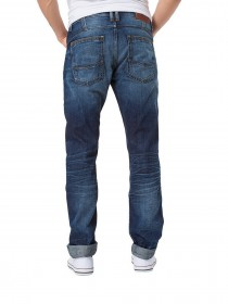 Cross Herren Jeans Antonio - Relax Fit - Blau - Extreme Crincle Blue Used
