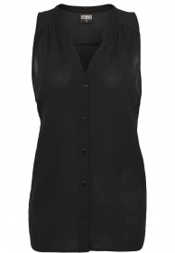Urban Classics Ladies Sleeveless Chiffon Blouse