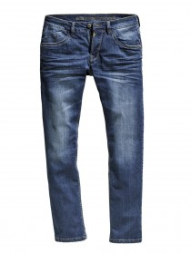 Timezone Herren Jeans JasonTZ - Regular Fit - Blau - Used Surfer Wash