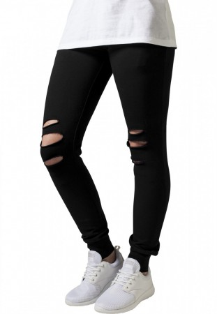 Urban Classics Damen Sweathose Ladies Cutted Terry Pants