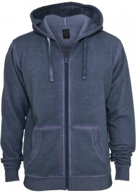 Urban Classics Herren Spray Dye Zip Kapuzenpullover - Regular Fit