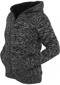 Urban Classics Damen Winter Knit Zip Kapuzenpullover