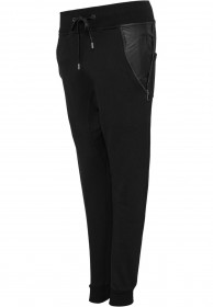 Urban Classics Damen Side Zip Leather Pocket Sweatpant