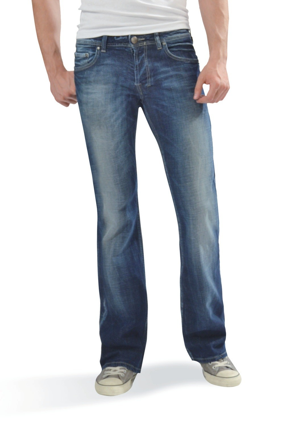 ltb herren jeans tinman bootcut dark blue used wash neu ebay. Black Bedroom Furniture Sets. Home Design Ideas