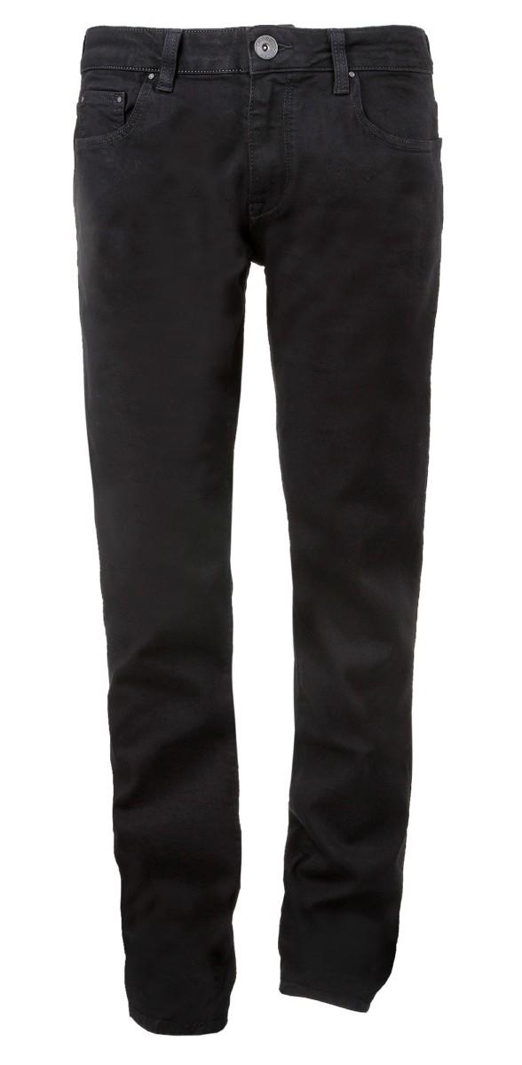 cross herren jeans johnny f195 slim straight black. Black Bedroom Furniture Sets. Home Design Ideas