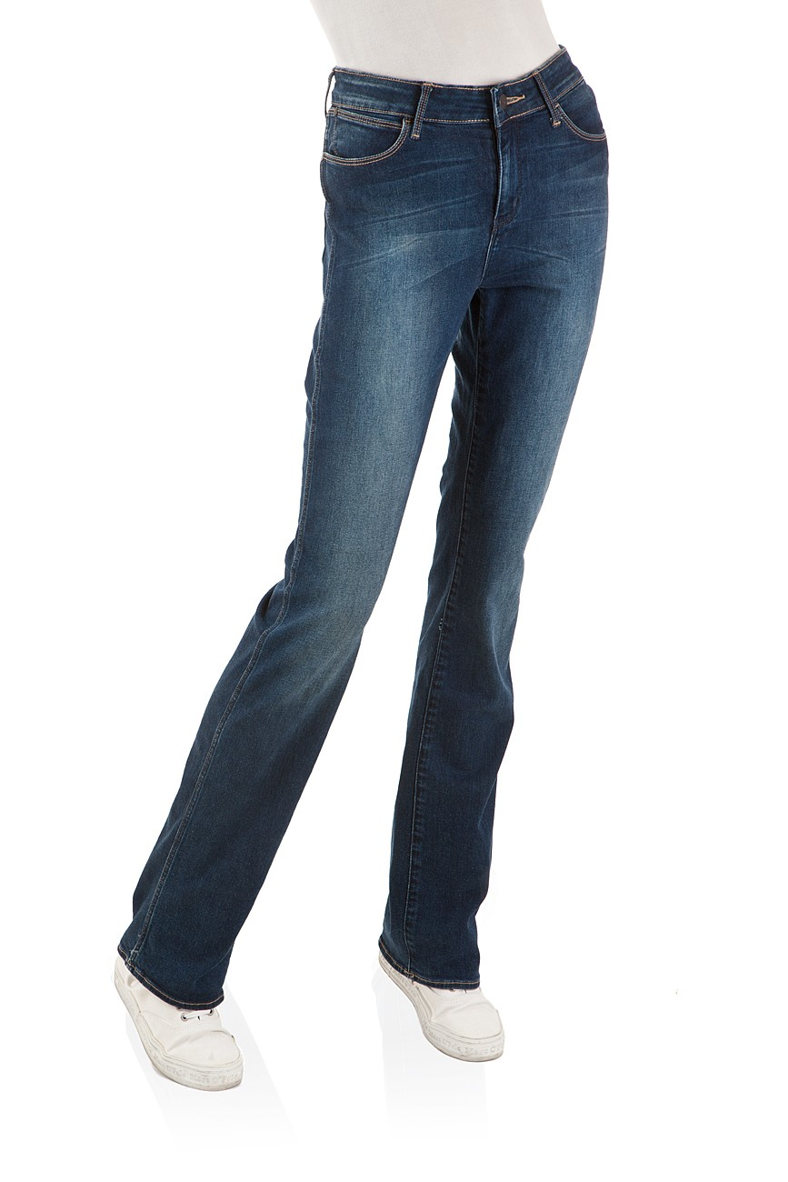 wrangler damen jeans tina bootcut scuffed indigo neu ebay. Black Bedroom Furniture Sets. Home Design Ideas