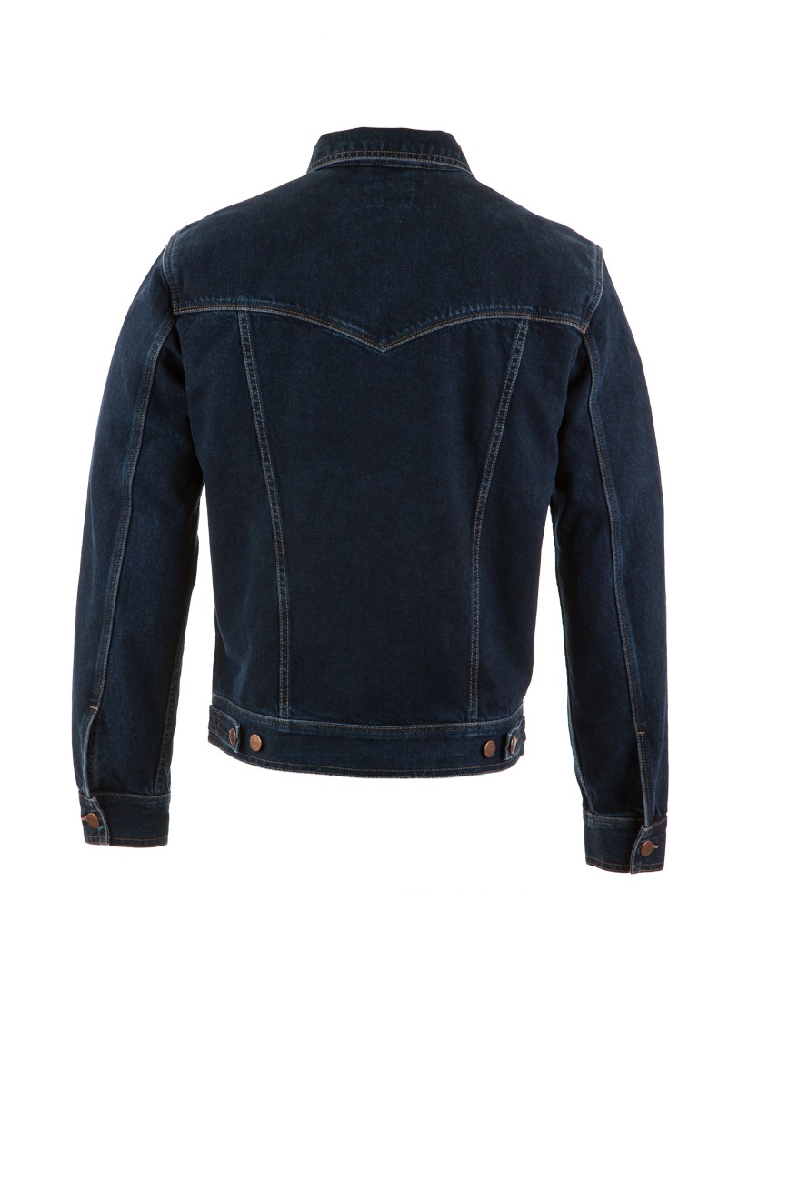 wrangler herren jeansjacke authentic blue black kaufen. Black Bedroom Furniture Sets. Home Design Ideas