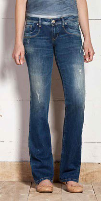 ltb damen jeans valerie 5145 3154 bootcut farino wash neu. Black Bedroom Furniture Sets. Home Design Ideas
