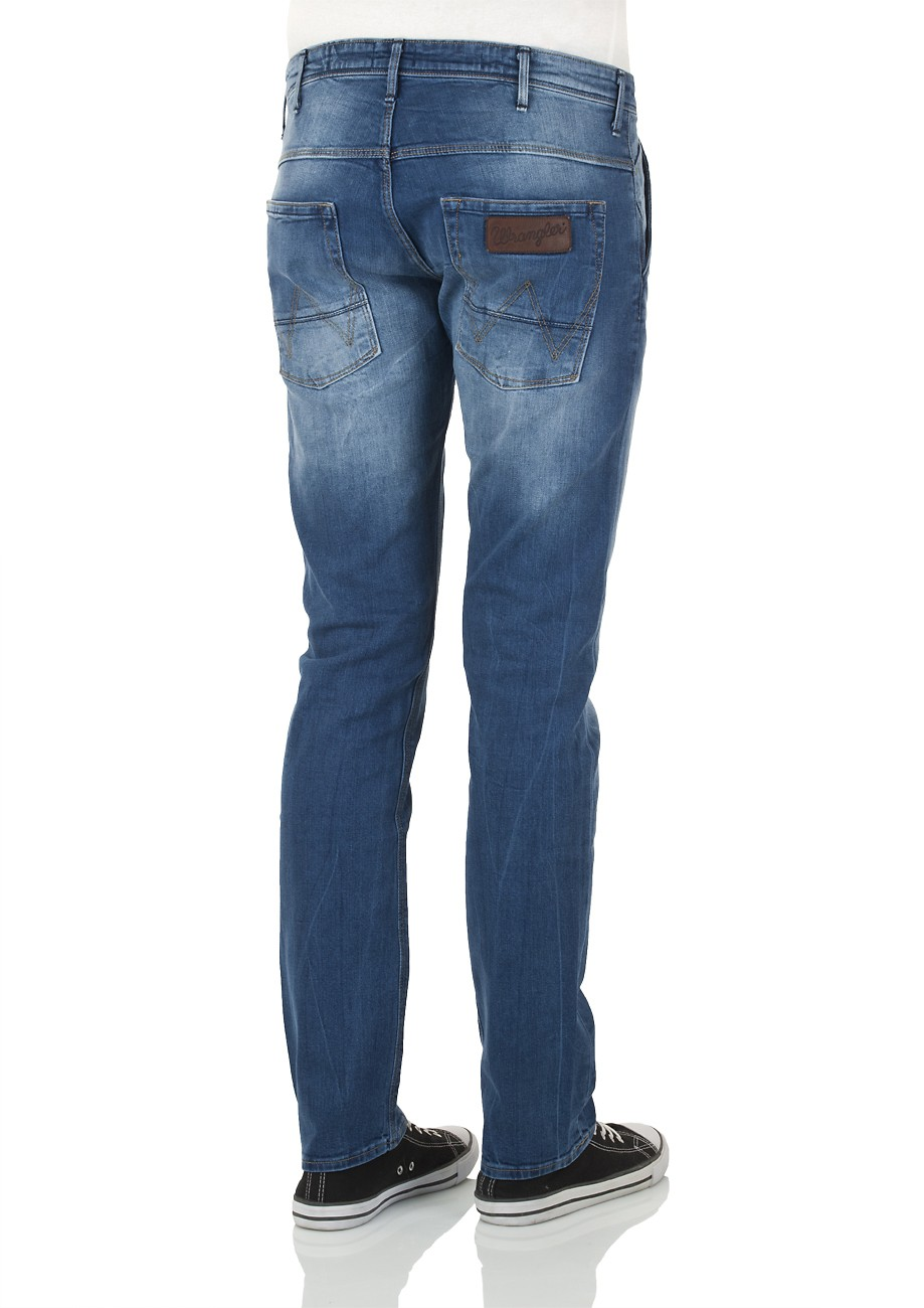 Wrangler Herren Jeans Spencer W184EH46P Slim Fit Straight Leg all blue