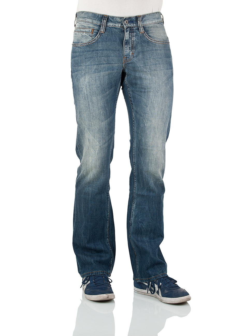 mustang herren jeans oregon 3117 5177 535 bootcut strong bleach neu ebay. Black Bedroom Furniture Sets. Home Design Ideas