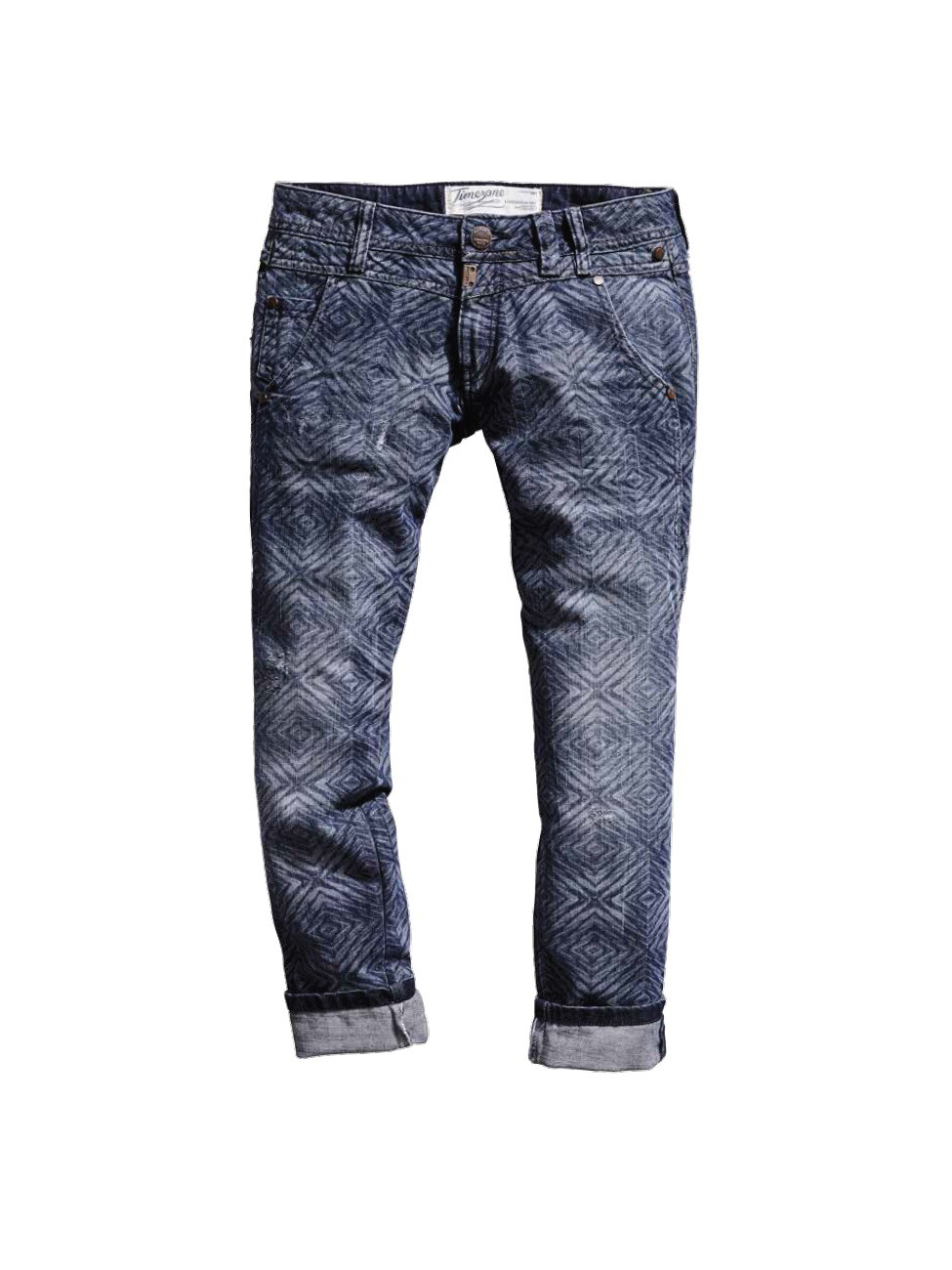 timezone damen 7 8 jeans nalitz 16 5455 slim fit blue diamond laser neu ebay. Black Bedroom Furniture Sets. Home Design Ideas
