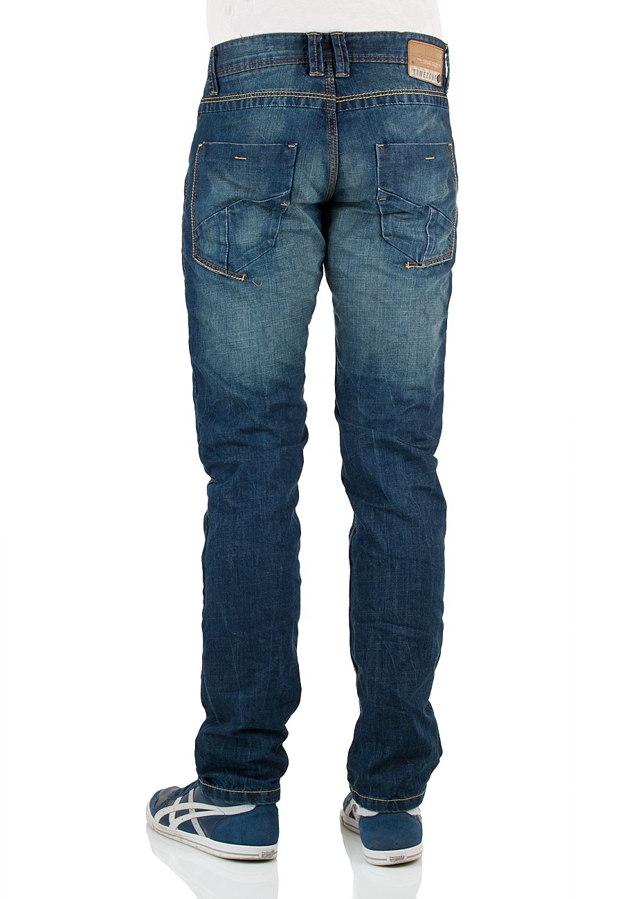 timezone herren jeans jimtz 26 5568 slim fit blue west wash neu 59. Black Bedroom Furniture Sets. Home Design Ideas