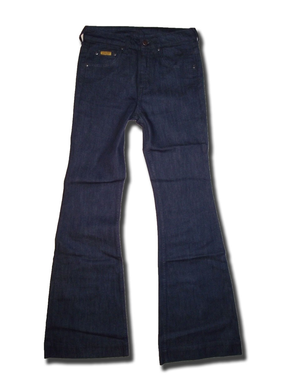 Maverick Damen Jeans blau Flare High Waist