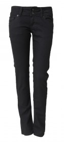 Cross Damen Jeans Melissa - Skinny Fit - Schwarz