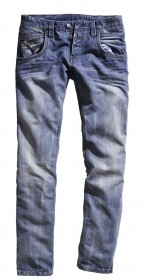 Timezone Herren Jeans HaroldTZ - Regular Fit - Silver Blue Wash