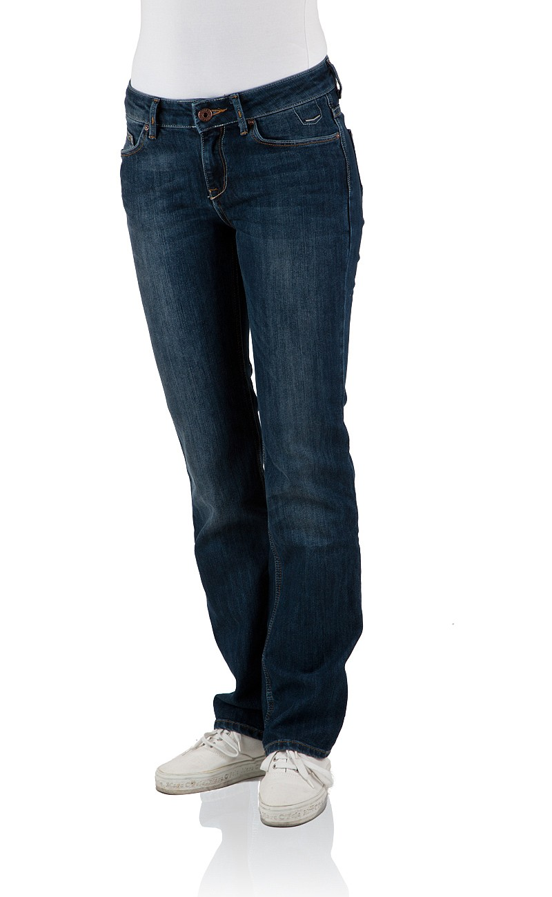 Cross Damen Jeans Rose - Regular Fit - Intensive Dark Blue W 33 L 34, intensive dark blue (007)