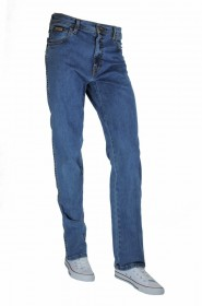 Wrangler Texas Stretch Herren Jeans - Regular Fit - Blue Black - Black Overdye - Darkstone - Stonewash