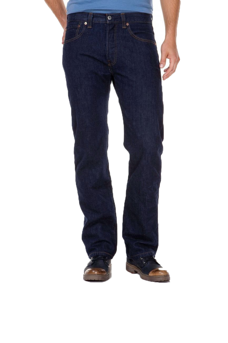 Levi´s® 501® Jeans - Regular Straight Fit - Stonewash - Onewash - Marlon Wash - Black - Light Broken In W 40 L 34, onewa