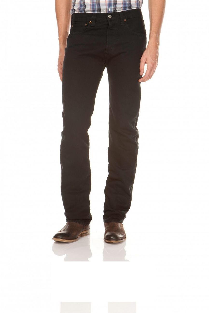 Levi´s® 501® Jeans - Regular Straight Fit - Stonewash - Onewash - Marlon Wash - Black - Light Broken In W 29 L 32, black
