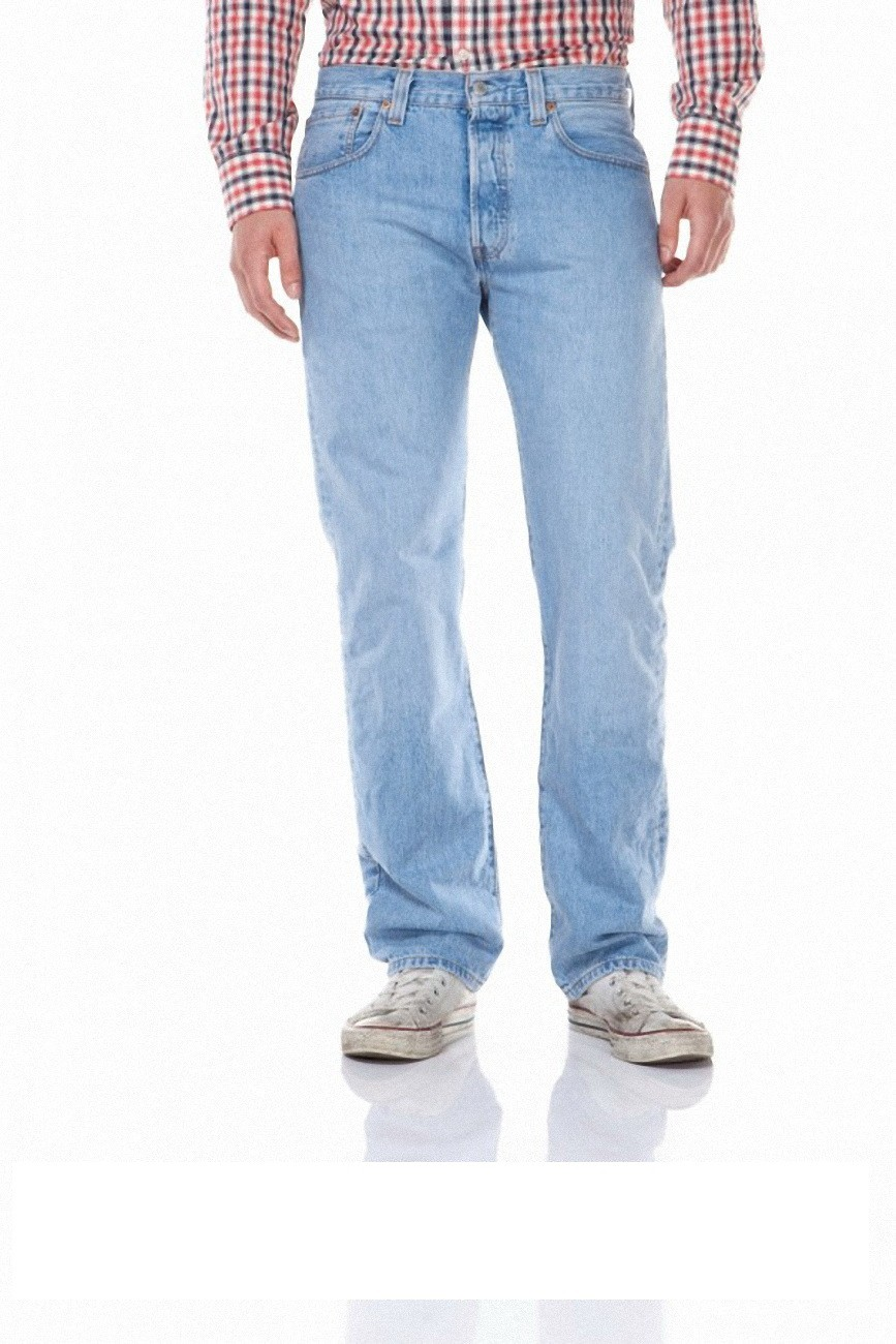 Levi´s® 501® Jeans - Regular Straight Fit - Stonewash - Onewash - Marlon Wash - Black - Light Broken In W 40 L 34, light