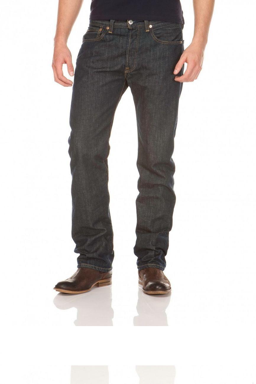 Levi´s® 501® Jeans - Regular Straight Fit - Stonewash - Onewash - Marlon Wash - Black - Light Broken In W 44 L 34, marlo