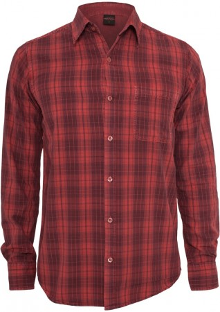 Urban Classics Checked Garment Dye T-Shirt - Regular Fit