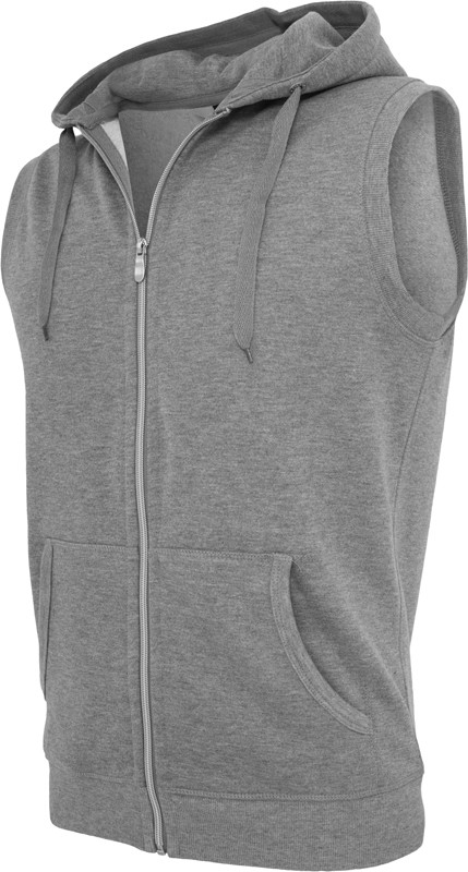 Urban Classics Light FLeece SLeeveless Zip Kapuzenpullover - Regular Fit