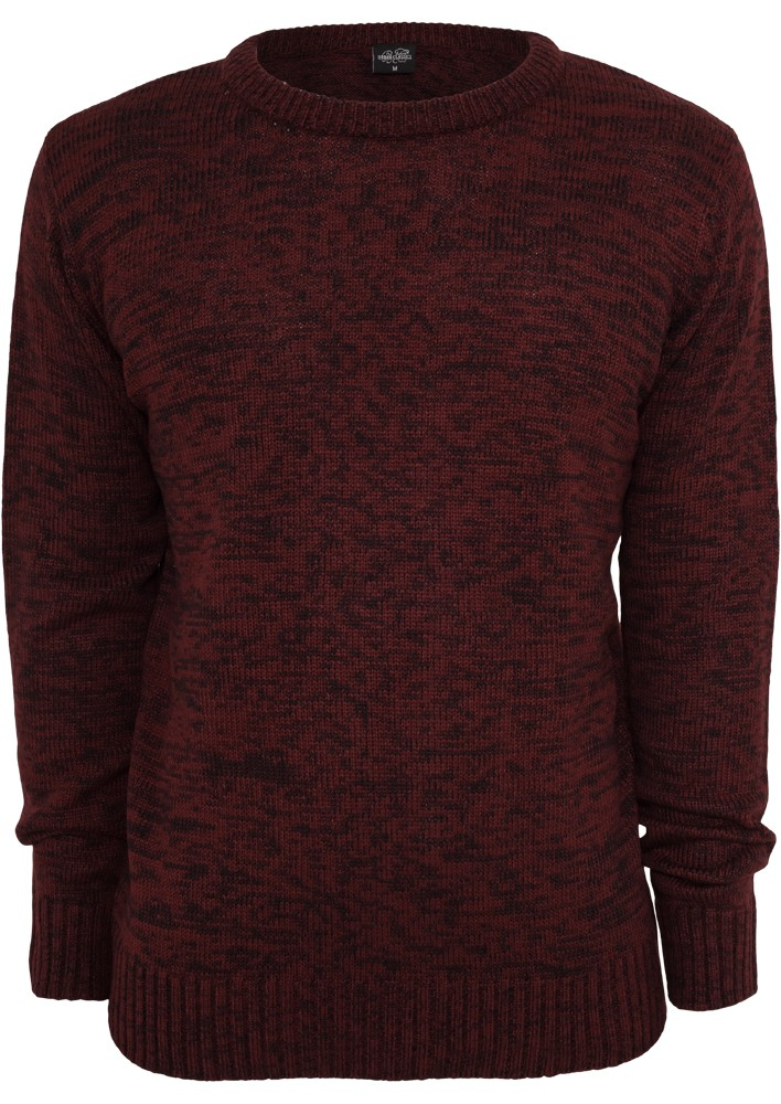 Urban Classics Herren Sweatshirt Melange Knitted Crew - Regular Fit