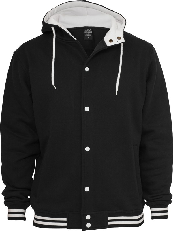 Urban Classics Herren Hooded College Sweatjacke - Regular Fit