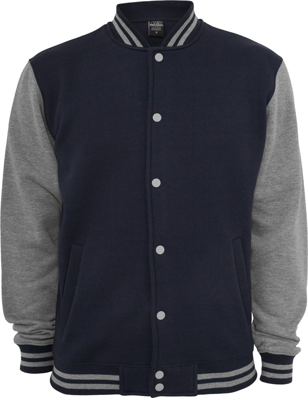 Urban Classics Herren 2-tone College Sweatjacke - Regular Fit 2/2