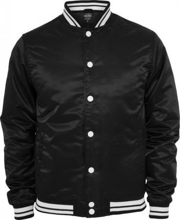 Urban Classics Herren Shiny College Jacke - Slim Fit