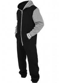 Urban Classics Herren College Sweat Jumpsuit - Regular Fit
