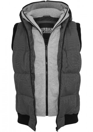 Urban Classics Herren Double Hooded Weste