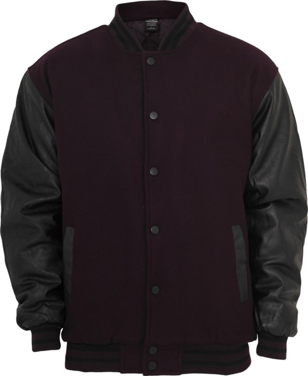 Urban Classics Herren Half-Leather College Jacke