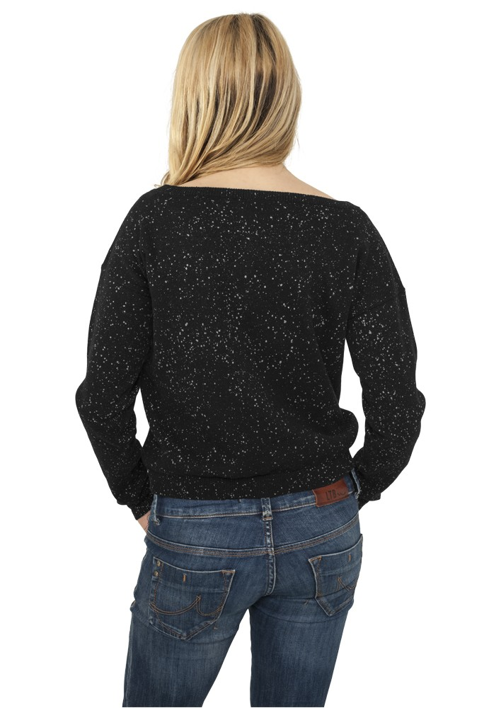 Urban Classics Damen Knitted Splatter Crewneck